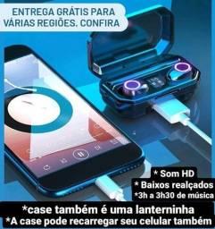 Fone de ouvido bluetooth (carrega seu celular!)