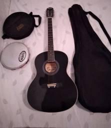 Vendo violão  e pandeiro