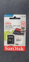 Cartão de memória 32gb lacrado