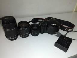 Câmera Canon e lentes