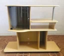 Rack/ estante amarelo de madeira