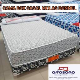 cama box casal molas - receba hj+ brinde 82