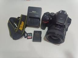 Câmera Profissional Nikon D3500 Com Lentes 35mm YongNuo