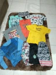 Lote de roupas menino de 6 a 8