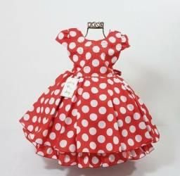 Vestidos Temáticos Minnie vermelha