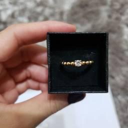 Anel - 10  Banhado a ouro