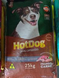 Ração quatree hot dog 25kg para cães adultos sabor frango e carne - fazemos entregas.