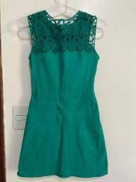 Vestido verde tamanho P