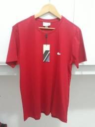 Camiseta original Lacoste Vermelha Tam P