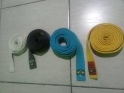 Kit 4 faixas de judo usada em ótimo estado