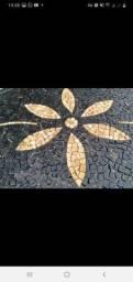 Serviço de pedra portuguesas