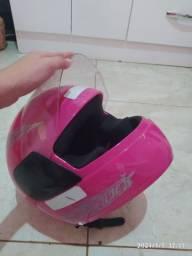 Capacete feminino rosa