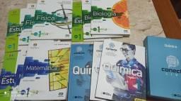 Kit Livros Projeto Múltiplo 1a série Mat Fis Bio Quim