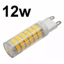 Kit 10x Lâmpadas Led Halopim G9 Lustres, 12w Extra Forte 110v