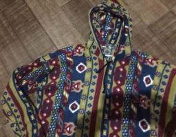Blusa de frio vintage com capuz