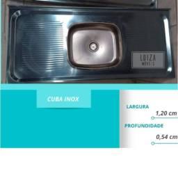 Pia inox 1.20 cm