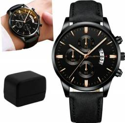 Relógio Masculino Preto Black Motion Design Quartz