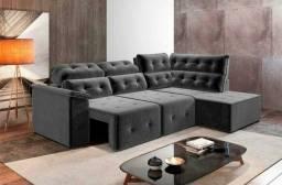 !!Sofa Retrátil e Reclinável Alto Padrão Milão