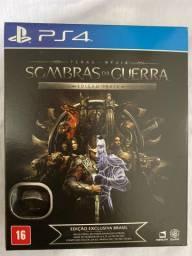 Shadows of War PS4 Jogo LACRADO - Edição prata Exclusiva
