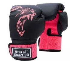 Luva Muaythai/boxe - Mma Brazuca Rosa