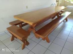 Mesa com 2 bancos 2,50mts e 3.00mts  Pronta entrega