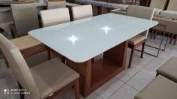 Título do anúncio: Mesa seis resistente no acabamento laka e madeira maciça