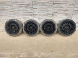 Jogo de rodas 14 de ferro semi novas de furação 4x100