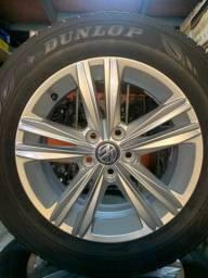 Jogo pneus e rodas novo polo Aro 15