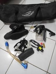 Kit de equipamentos de mergulho