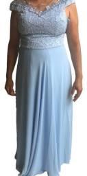 Vestido De Festa Longo Para Madrinha Renda Brilho Casamento