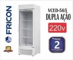 Freezer para congelados fricon 565 litros com vidro triplo garantia de 2 anos