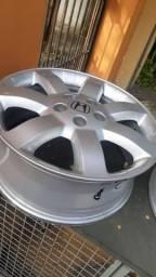 Rodas aro 17 CRV + adaptadores DSG + pneus meia vida