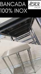 Mobilia Industrial: Bancada/ Suporte 100% inox