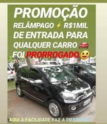 Vw/UP BLACK 1.0 2015 COM R$1MIL DE ENTRADA NA SHOWROOM AUTOMÓVEIS