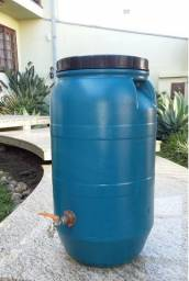 JR Tambores - Barrica Plastico 50 e 80 Litros Com Torneira Esfera