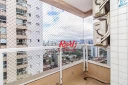 Apartamento com 3 dormitórios VILA MARINA para alugar, 77 m² - Ponta da Praia - Santos/SP