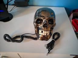 Telefone Fixo Caveira (Acende os olhos)