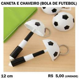 Caneta e Chaveiro Bola de Futebol