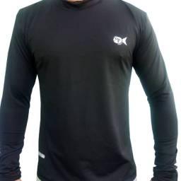 Camisa uv proteção solar manga longa adulto
