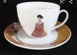 Item colecionador - Xicara Porcelana Retrato de Adele Bloch