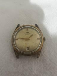Relógio de pulso antigo Technos Incabloc 21 Jewels