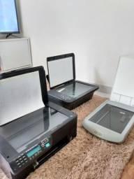 Duas impressoras e uma scanner Hp