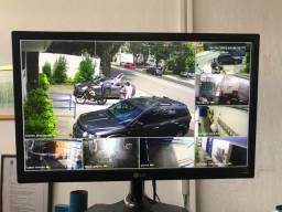 Sistema vigilância 8 câmeras hd intelbras