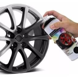Spray Envelopamento Preto Fosco Novo para Rodas e Detalhes no Carro