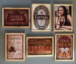 Quadros decorativos - MDF - Impressos na madeira