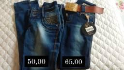 Calças jeans via sete