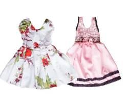 Kit (2) vestido infantil barato de tricoline