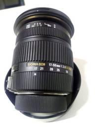 Lente sigma dc 17-50mm 2.8 ex hsm nikon impecável vendo/troco