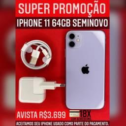 Super promoção IPhone 11 64gb lilás