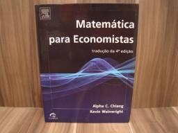 Livro: Matemática para economistas / Autor: Alpha C. Chiang & Kevin Wainwright
